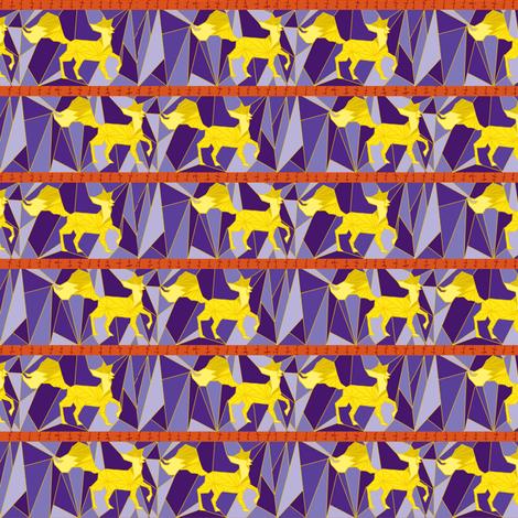 fox trot in lemon fabric by poppybasildesigns on Spoonflower - custom fabric