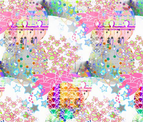 collage of stars fabric by preeta on Spoonflower - custom fabric