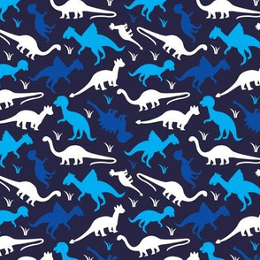 Navy blue Dinosaur abstract dino design for boys