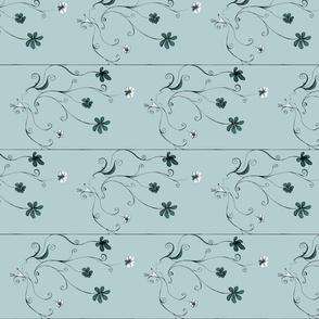 woman flower pattern