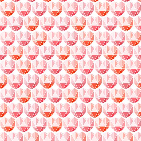 Geometric heart fabric by heleenvanbuul on Spoonflower - custom fabric