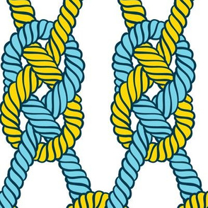 sailors knots - yellow and blue