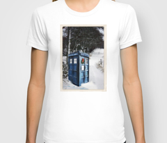 Police Box in the Snow Winter Scene