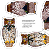 owl plushie yard