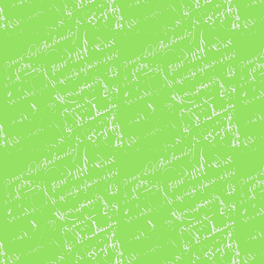 French Script apple green