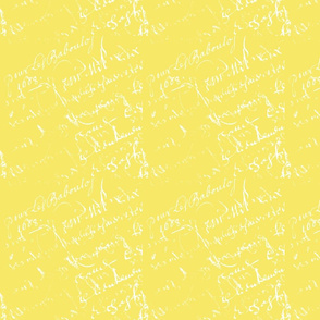 French Script yellow