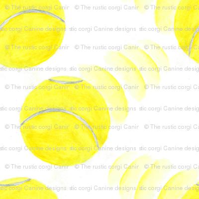 Zooming tennis balls