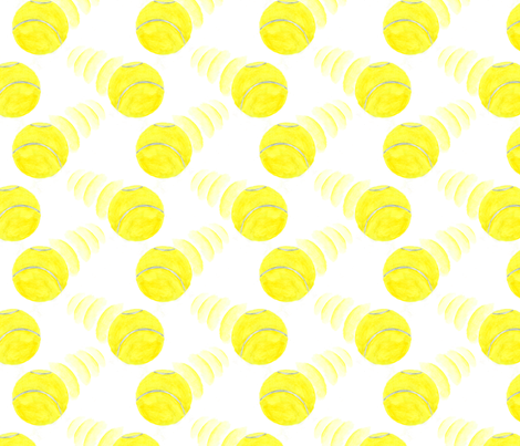 Zooming tennis balls fabric by rusticcorgi on Spoonflower - custom fabric