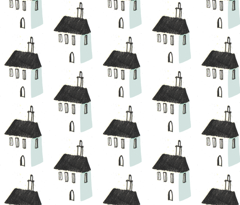 houses fabric by mummysam on Spoonflower - custom fabric