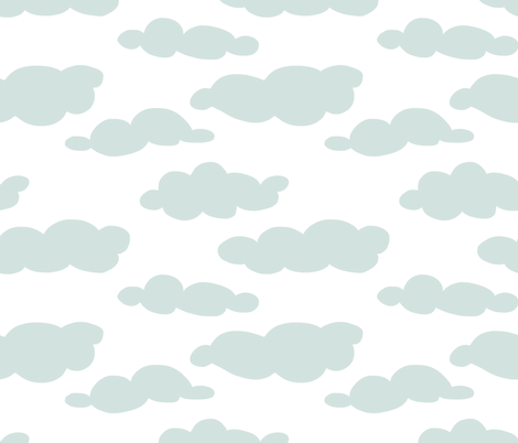 coulds fabric by mummysam on Spoonflower - custom fabric