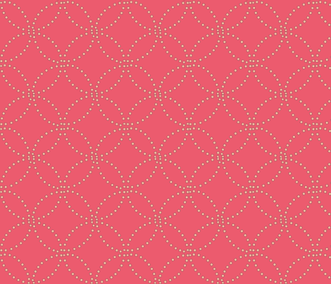 Stitching coral fabric by keweenawchris on Spoonflower - custom fabric