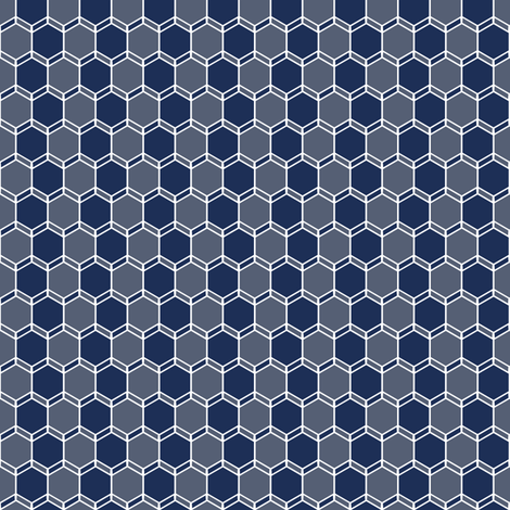 Blue Grey Geo fabric by lucy_myfunnybuddy on Spoonflower - custom fabric
