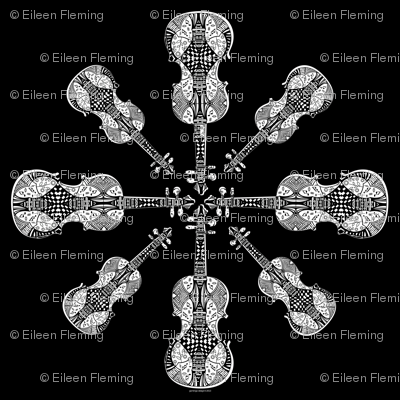 violin_snowflake_Decal
