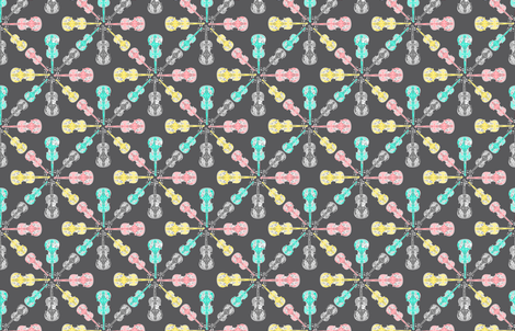 violin_snowflake_4_color_print fabric by eileen_fleming_pattern_design,_llc on Spoonflower - custom fabric