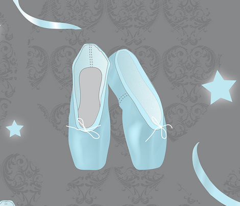 Pointes Shoes (Blue)