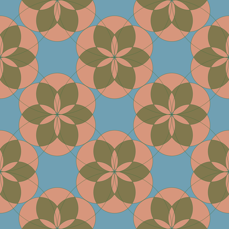 Divine Geometry Rose fabric by audsbodkin on Spoonflower - custom fabric