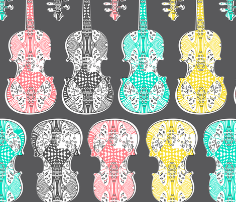 violin_line_up fabric by gomingo on Spoonflower - custom fabric