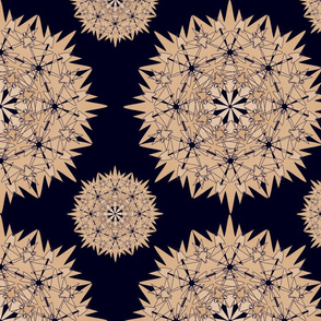 Blue Gold Geometric Repeat