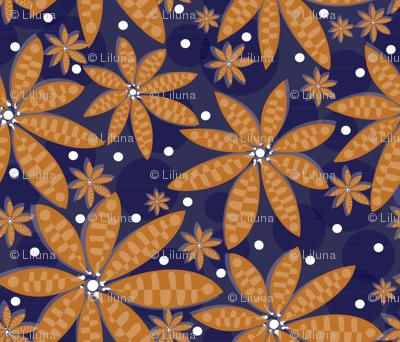 blue flower carpet