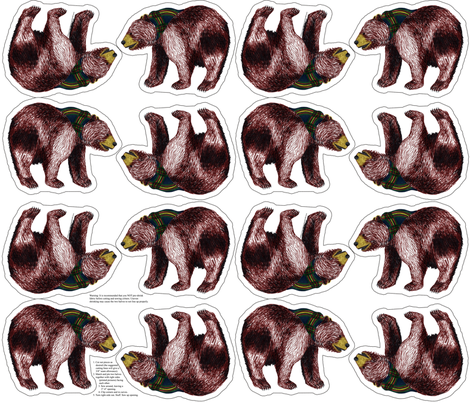 bear plushie yard fabric by evenspor on Spoonflower - custom fabric