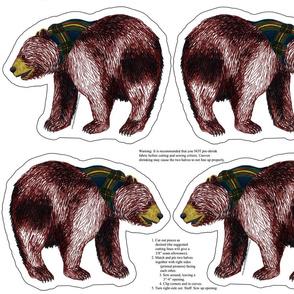 bear plushie yard