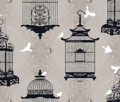 Julie's Empty Bird Cages WG/B