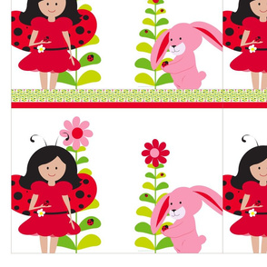 Ladybug party goodie bags and doll