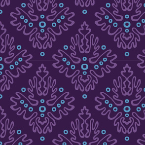 Antler Damask in Urchin