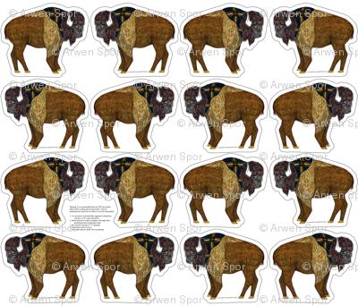 buffalo plushie yard