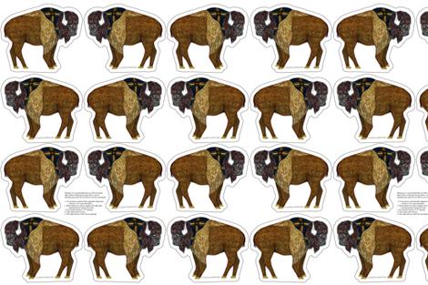 buffalo plushie yard fabric by evenspor on Spoonflower - custom fabric