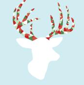 Christmas confetti deer
