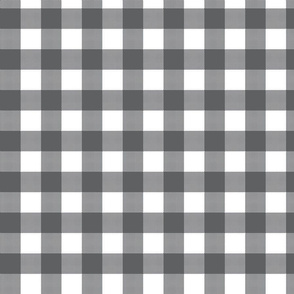 Gingham Check Charcoal
