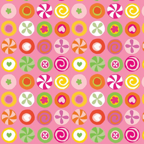 Sweet Candy Circles Pink