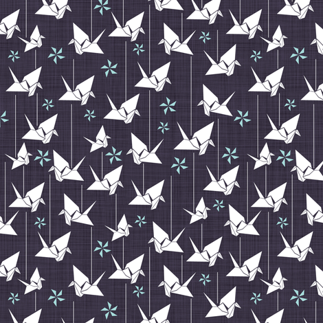 Paper cranes fabric by addilou on Spoonflower - custom fabric