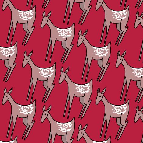 Deer on Red II.