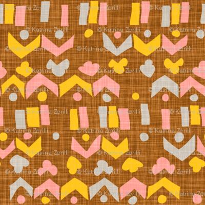 Brown Linen Geo
