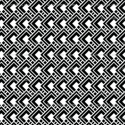 Funky Black Geometric