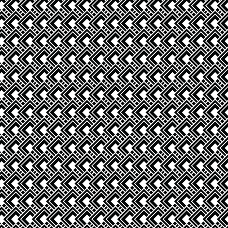Funky Black Geometric fabric by jenniferlabre on Spoonflower - custom fabric