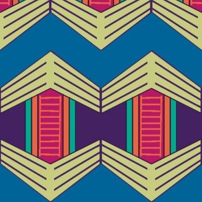 African Weave Hexagon Variation with Chevrons