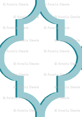 Dimensional Quatrefoil in Tiffany Blue