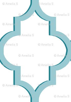 Dimensional Quatrefoil in Tiffany Blue