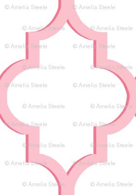 Dimensional Quatrefoil in Pink