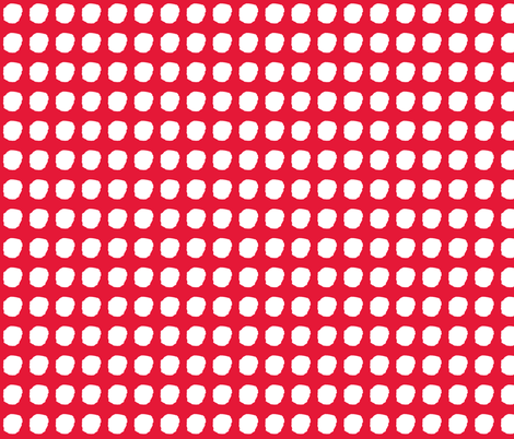 snow in red fabric by cherryjam on Spoonflower - custom fabric