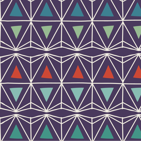 Geo Triangles fabric by camillafellas on Spoonflower - custom fabric