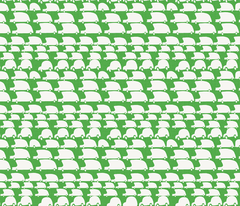 green cars fabric by mummysam on Spoonflower - custom fabric