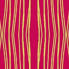 Stripes of Bamboo Red