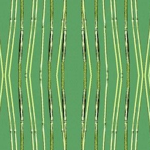 Stripes of Bamboo Green