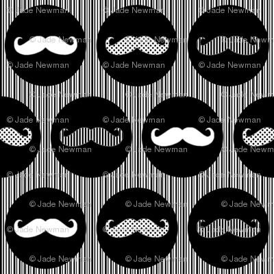 MoustachePrintWhiteBlack
