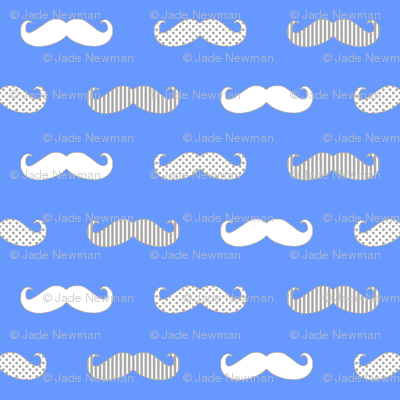 MoustachePrintPlainBlueGreyWhite_copy