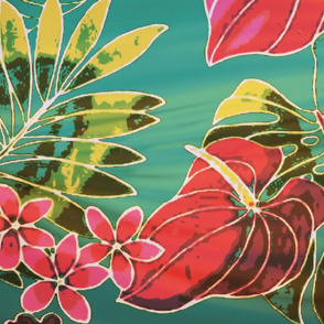 vintage tropical flowers